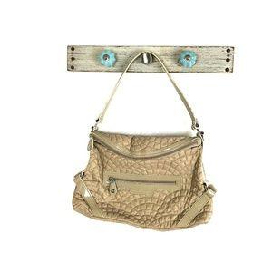 Vera Bradley Solid Beige Quilted Shoulder Handbag